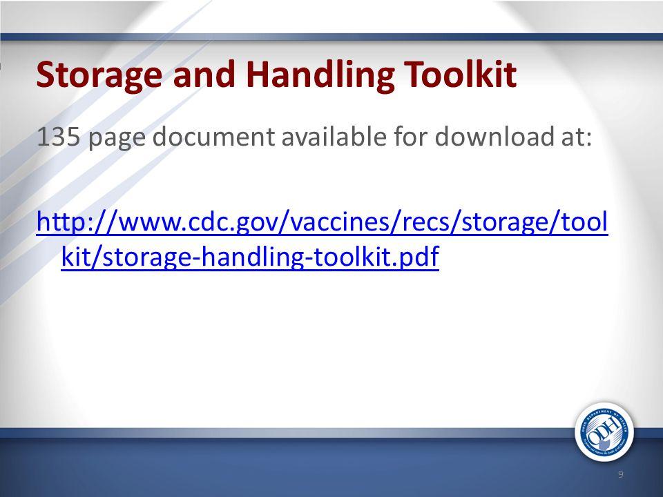 Storage and Handling Toolkit