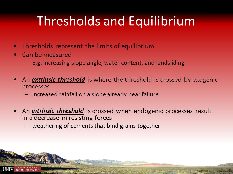Thresholds and Equilibrium