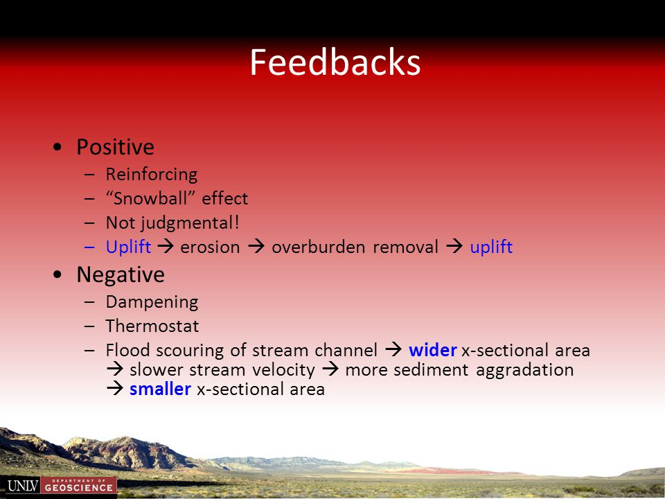 Feedbacks Positive Negative Reinforcing Snowball effect