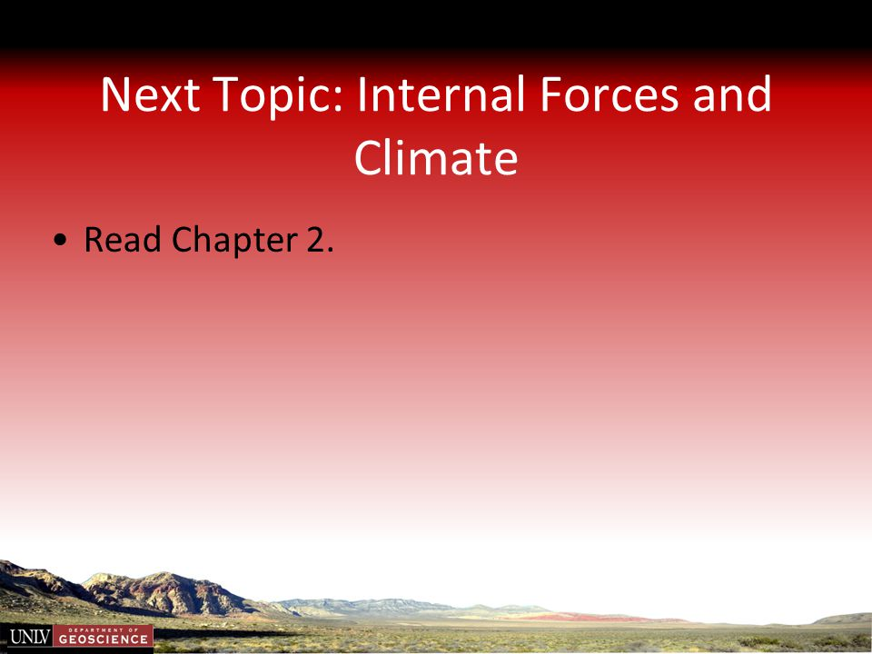 Next Topic: Internal Forces and Climate