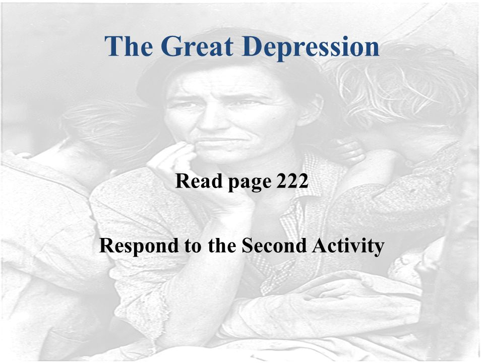 Respond to the Second Activity