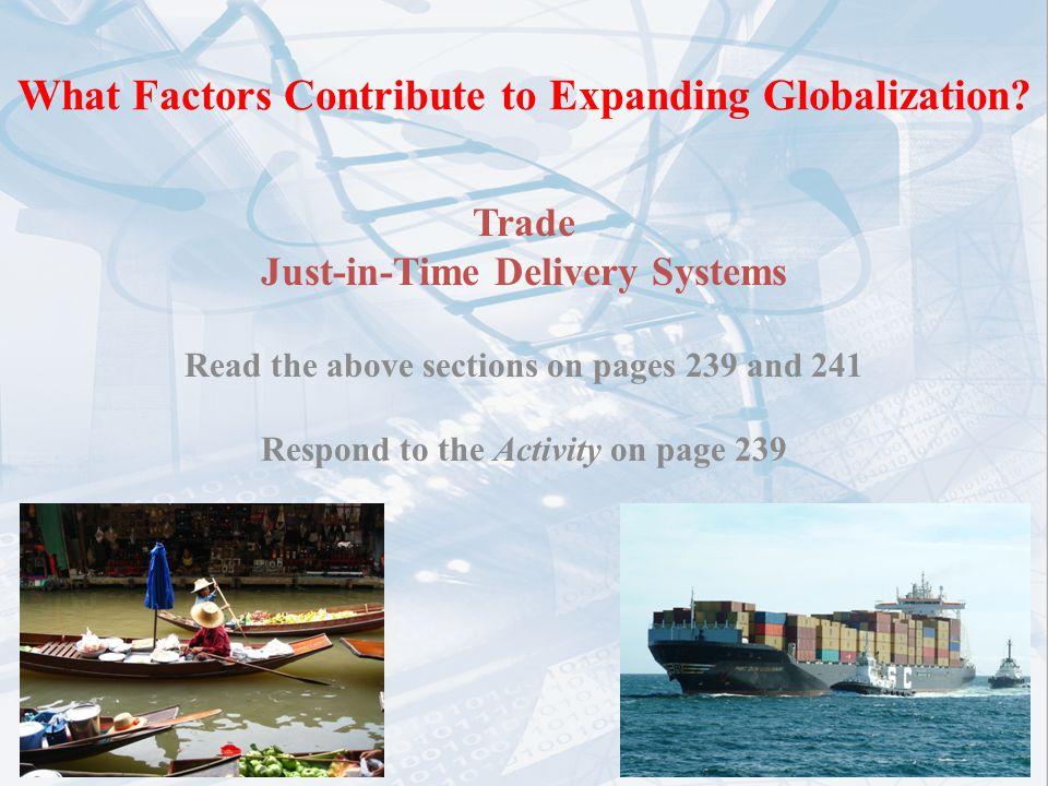 factors responsible for globalization