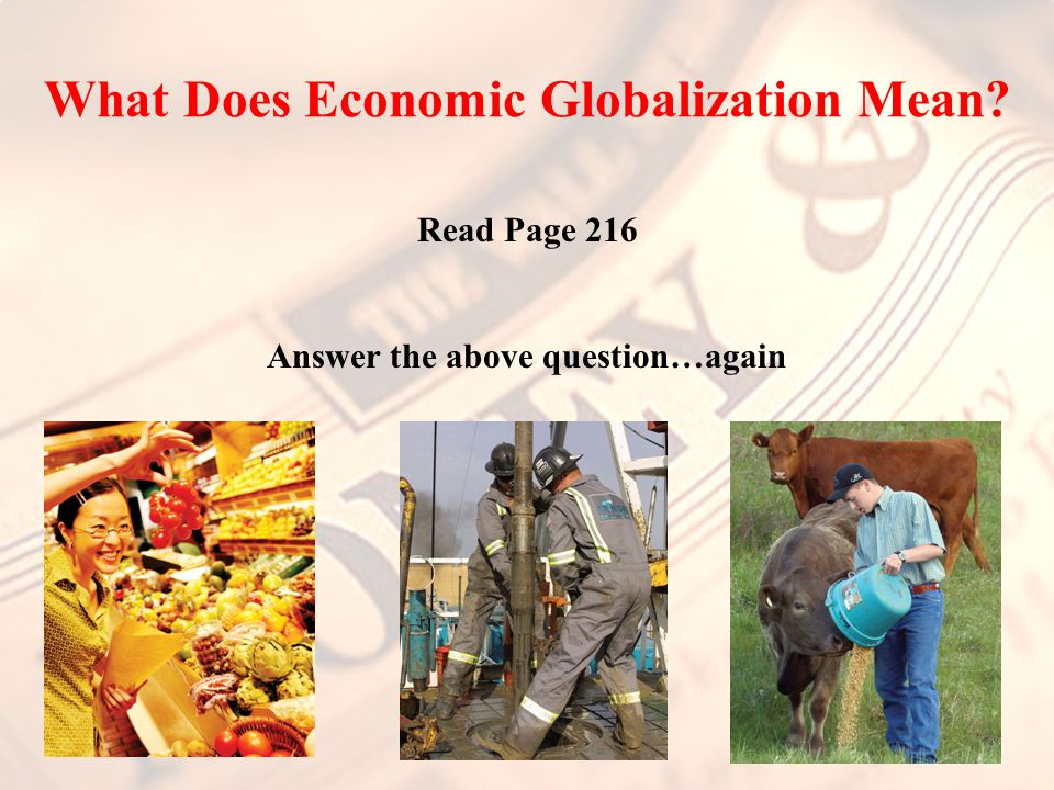 What Does Economic Globalization Mean