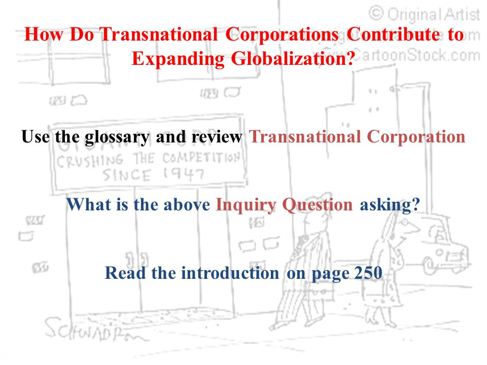 How Do Transnational Corporations Contribute to Expanding Globalization