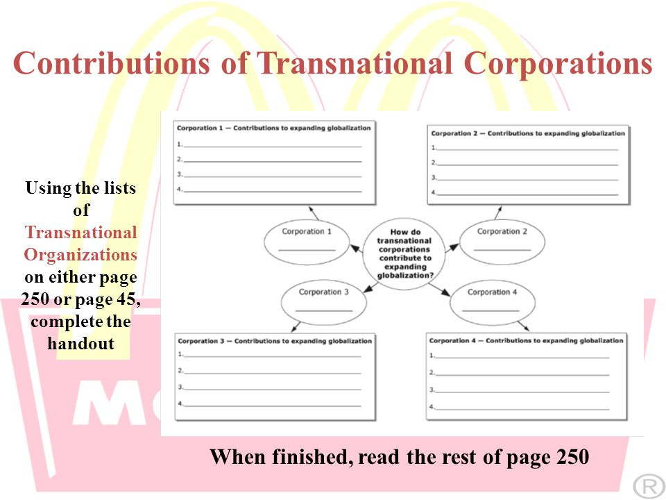 Contributions of Transnational Corporations