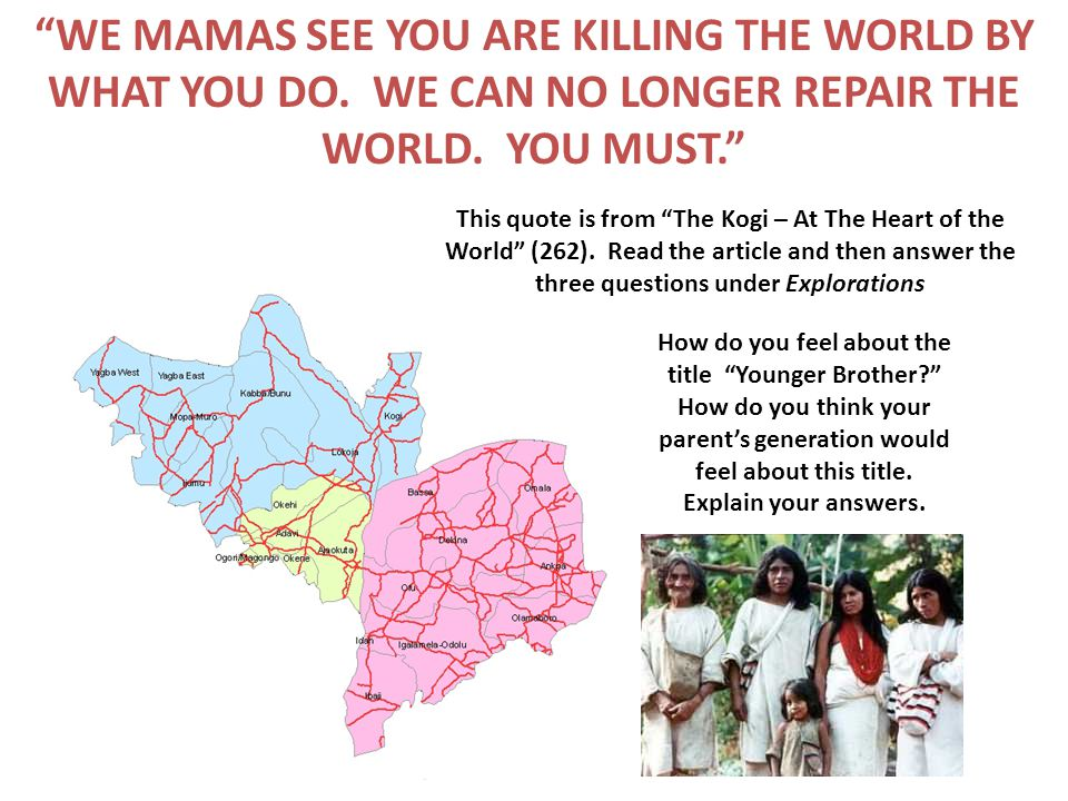WE MAMAS SEE YOU ARE KILLING THE WORLD BY WHAT YOU DO