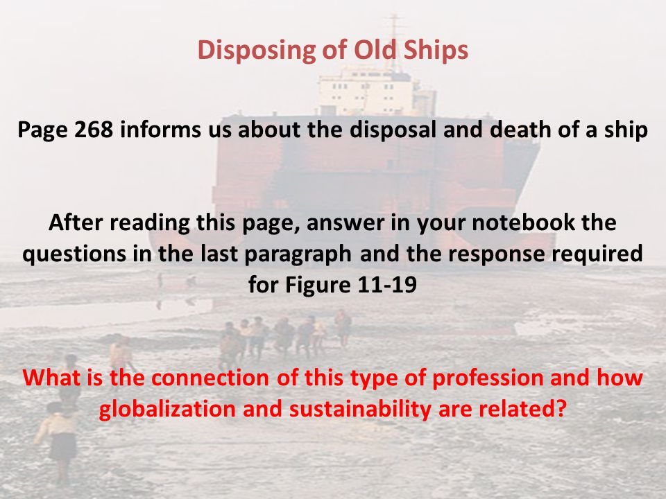 Page 268 informs us about the disposal and death of a ship