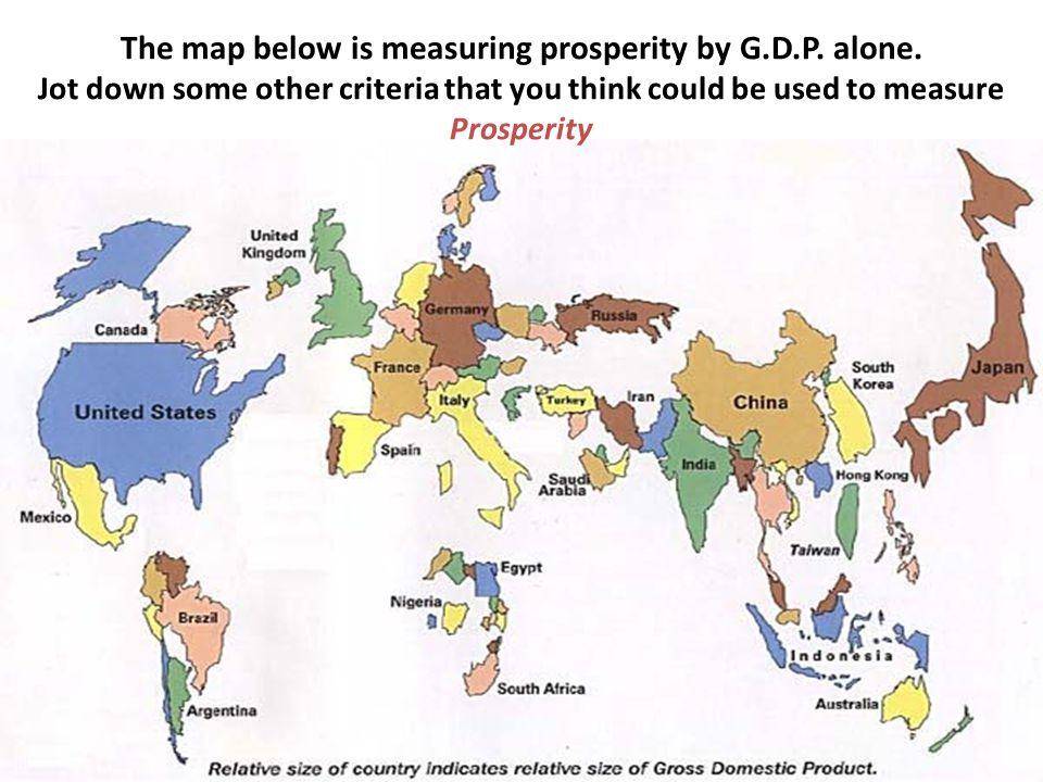 The map below is measuring prosperity by G.D.P. alone.