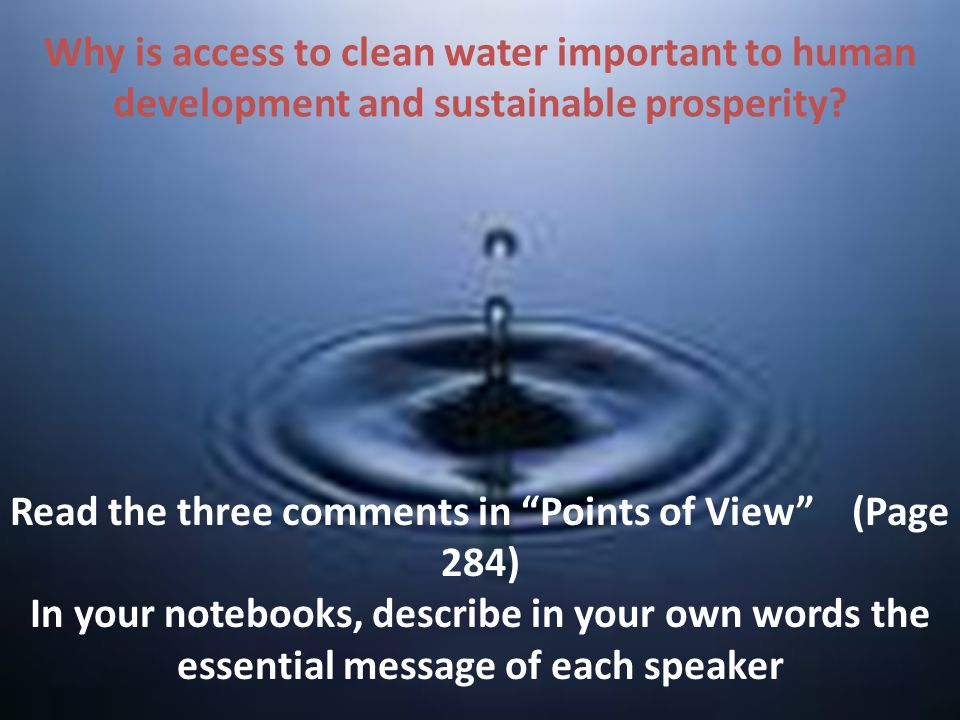 Read the three comments in Points of View (Page 284)