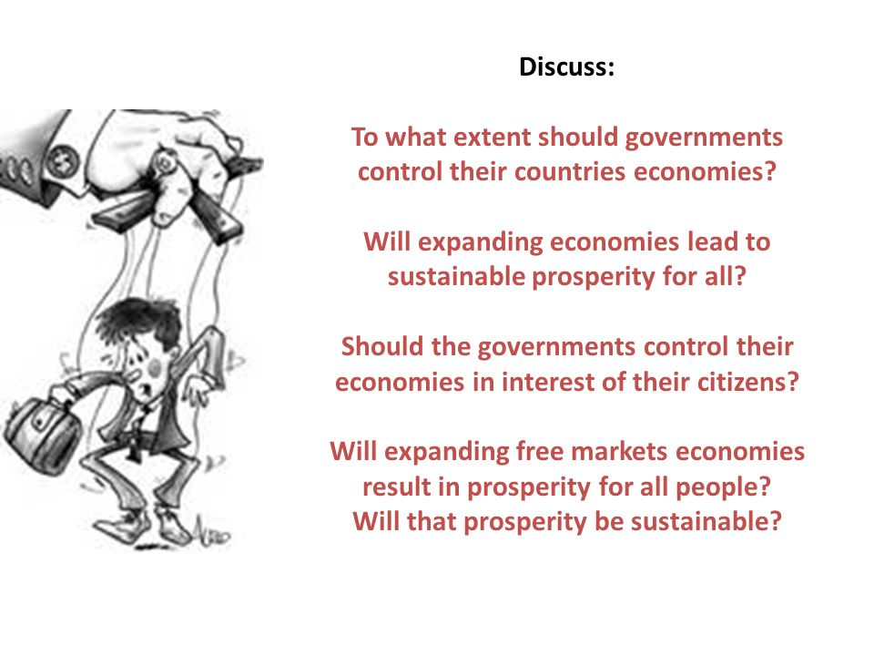 To what extent should governments control their countries economies
