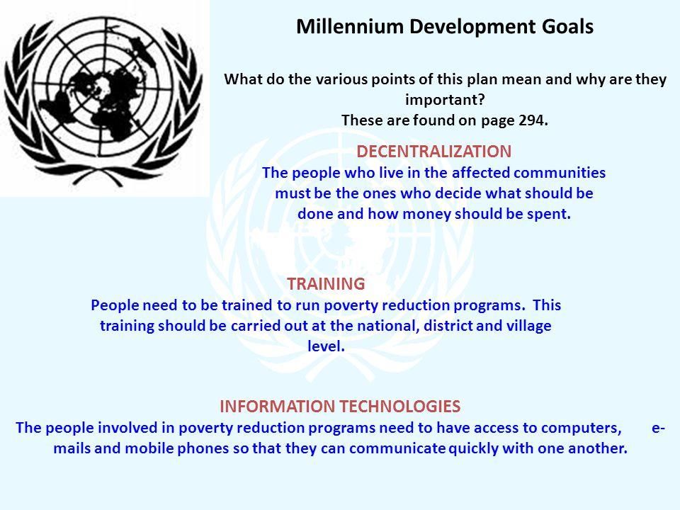 Millennium Development Goals INFORMATION TECHNOLOGIES