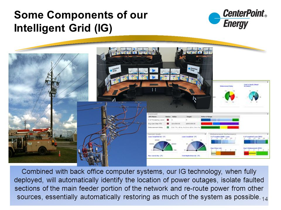Some Components of our Intelligent Grid (IG)