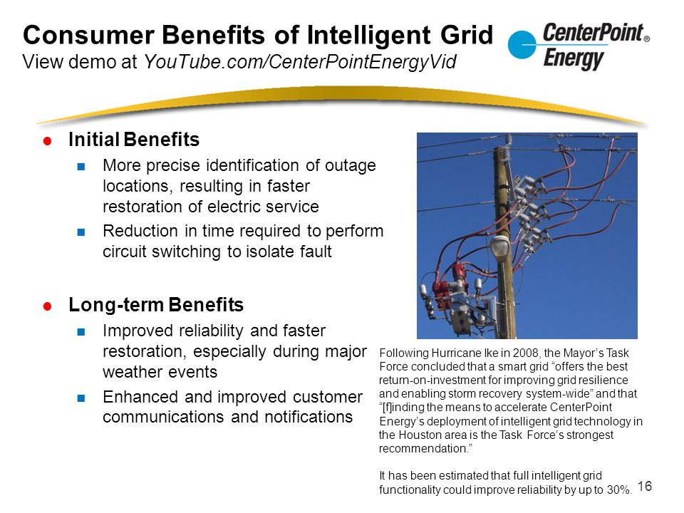 Consumer Benefits of Intelligent Grid View demo at YouTube