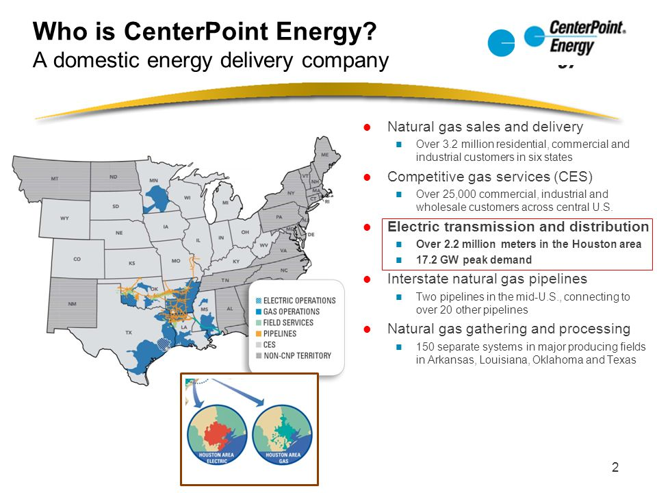 Who is CenterPoint Energy A domestic energy delivery company