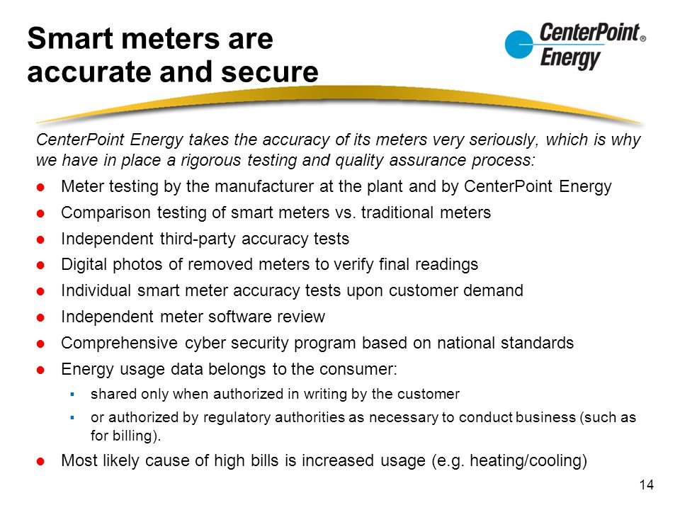 Smart meters are accurate and secure