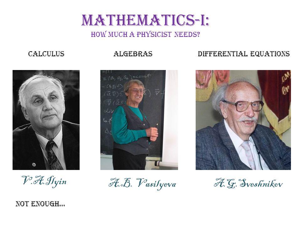 Mathematics-I: how much a physicist needs