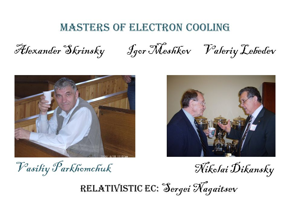 Masters of Electron cooling