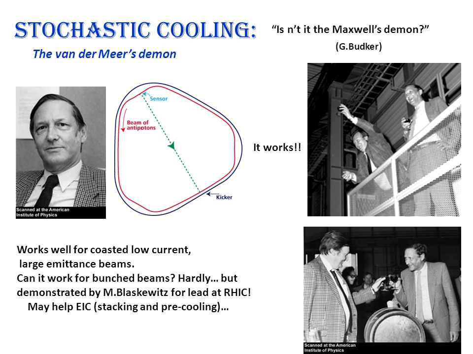 Stochastic cooling: The van der Is n't it the Maxwell's demon