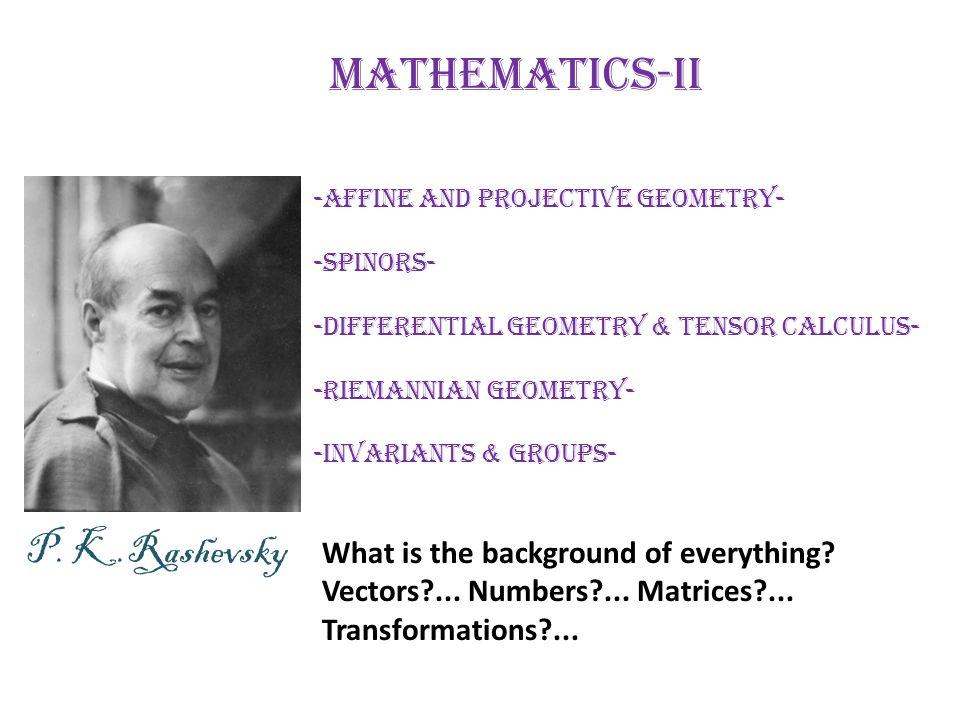 Mathematics-II P. K.Rashevsky