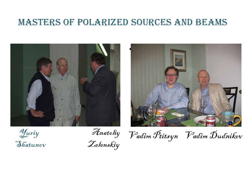 Masters of Polarized sources and beams