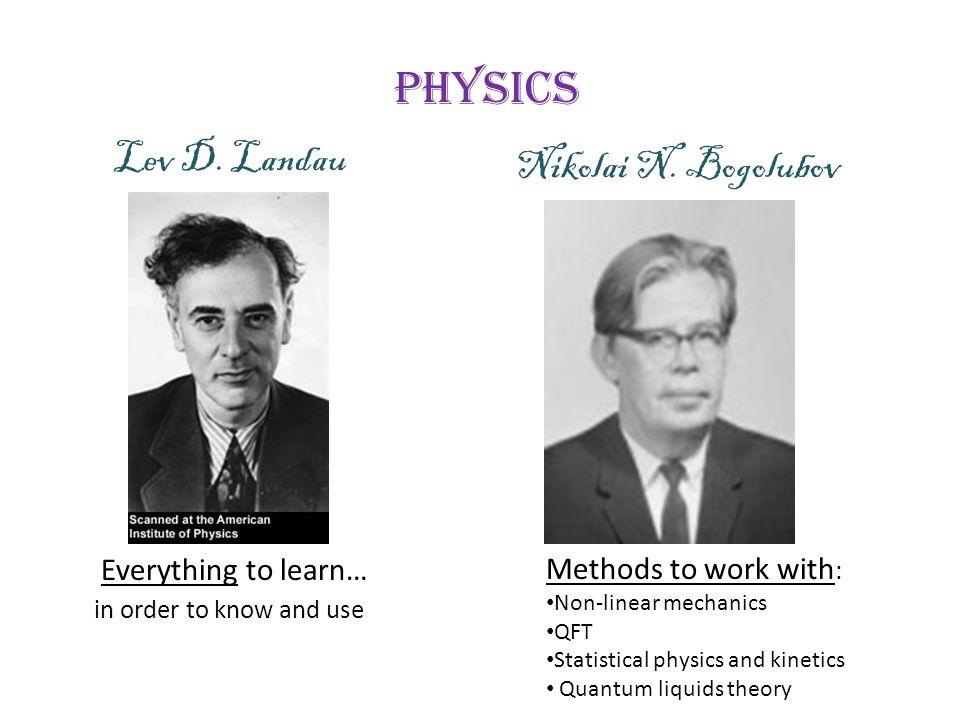 Physics Lev D. Landau Nikolai N. Bogolubov