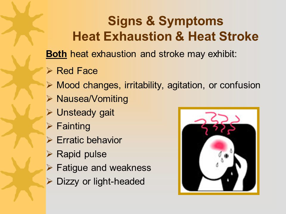 Signs & Symptoms Heat Exhaustion & Heat Stroke