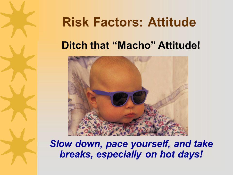 Risk Factors: Attitude