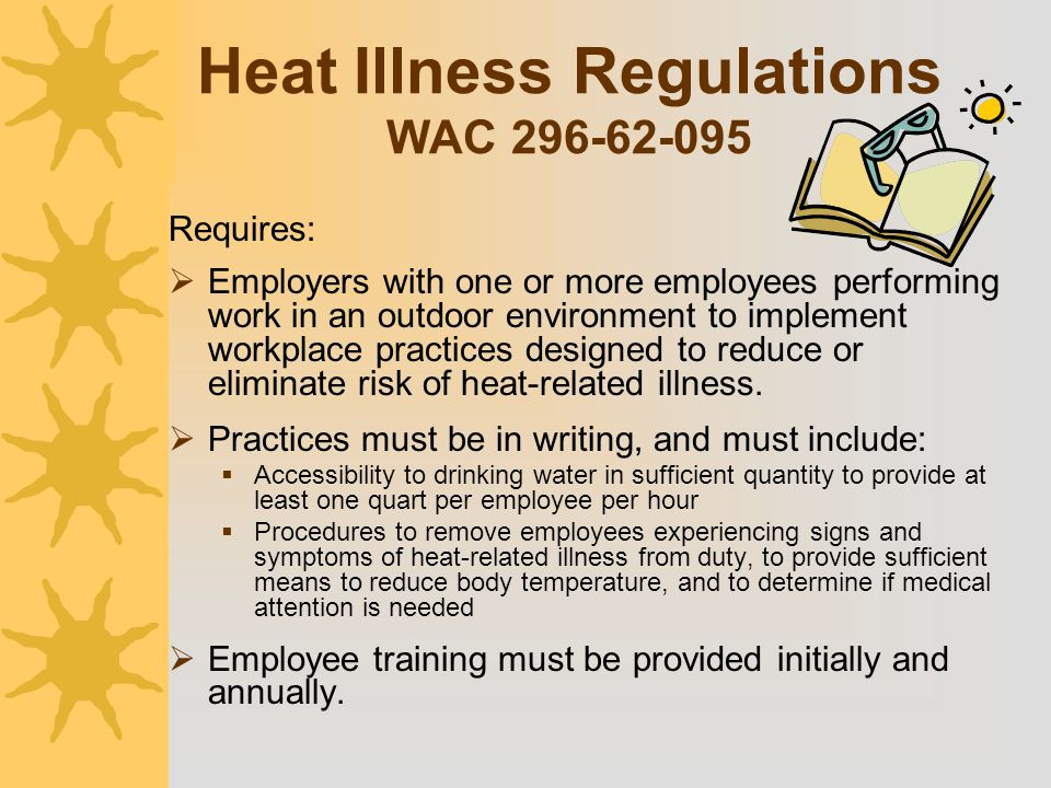 Heat Illness Regulations WAC 296-62-095