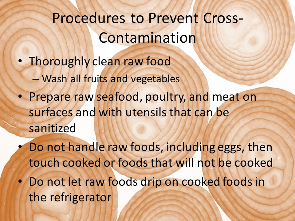 Procedures to Prevent Cross-Contamination