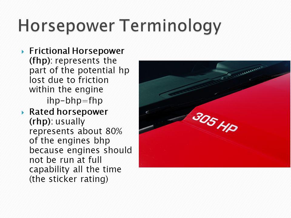 Horsepower Terminology