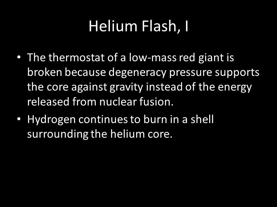 Helium Flash, I