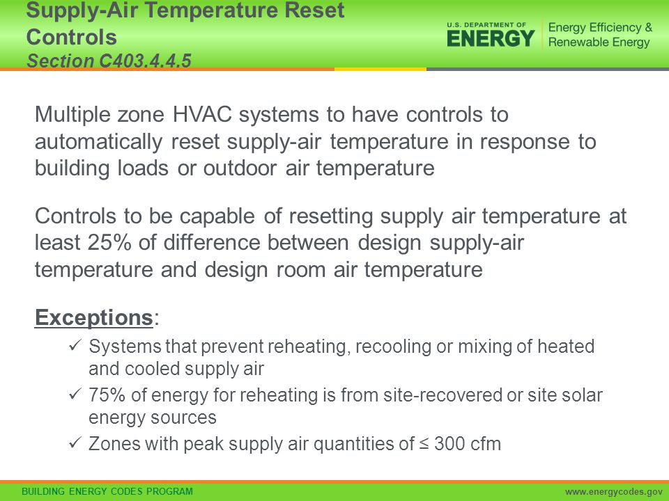 Supply-Air Temperature Reset Controls Section C403.4.4.5
