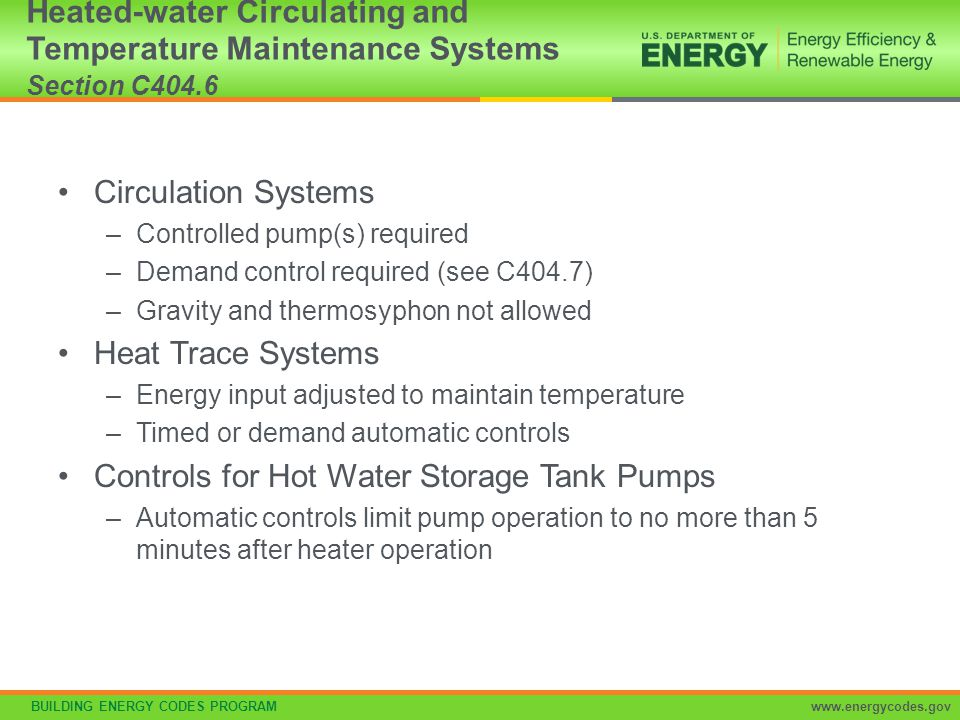 Controls for Hot Water Storage Tank Pumps