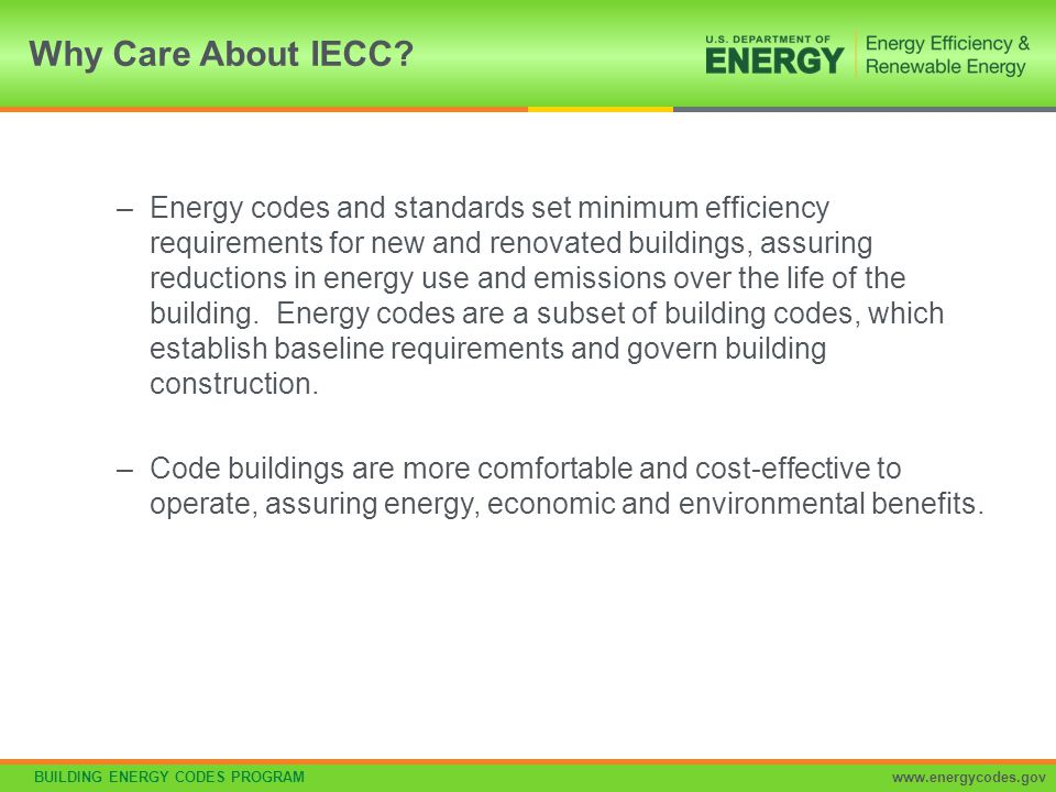 Why Care About IECC