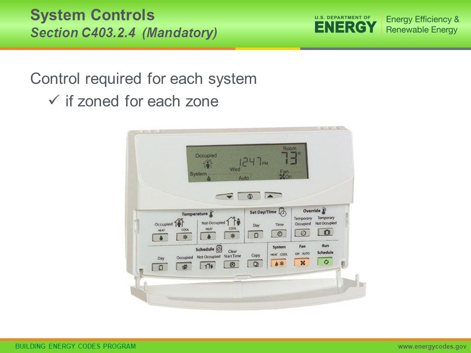 System Controls Section C403.2.4 (Mandatory)
