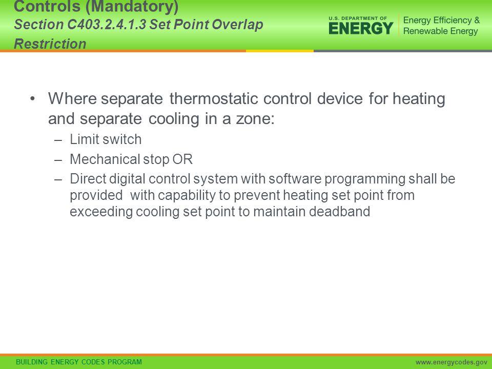 Controls (Mandatory) Section C403. 2. 4. 1