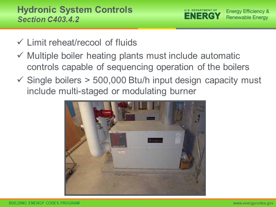 Hydronic System Controls Section C403.4.2