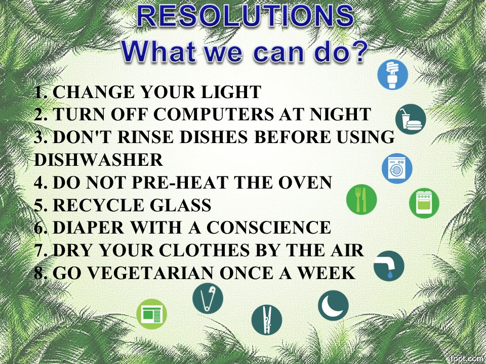 RESOLUTIONS What we can do