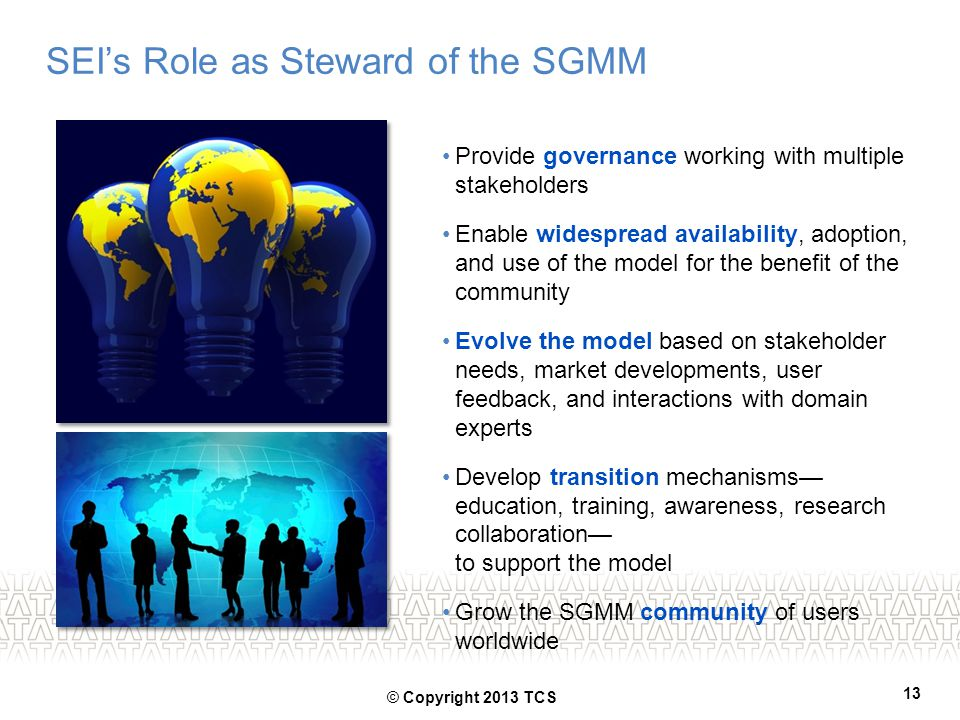 SEI's Role as Steward of the SGMM