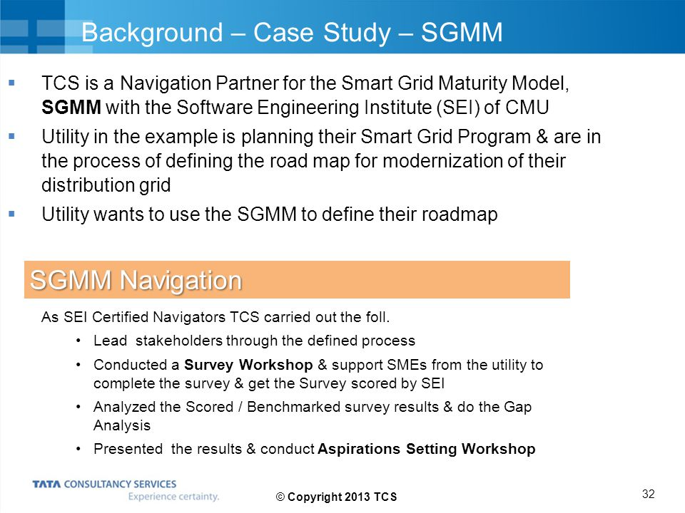 Background – Case Study – SGMM