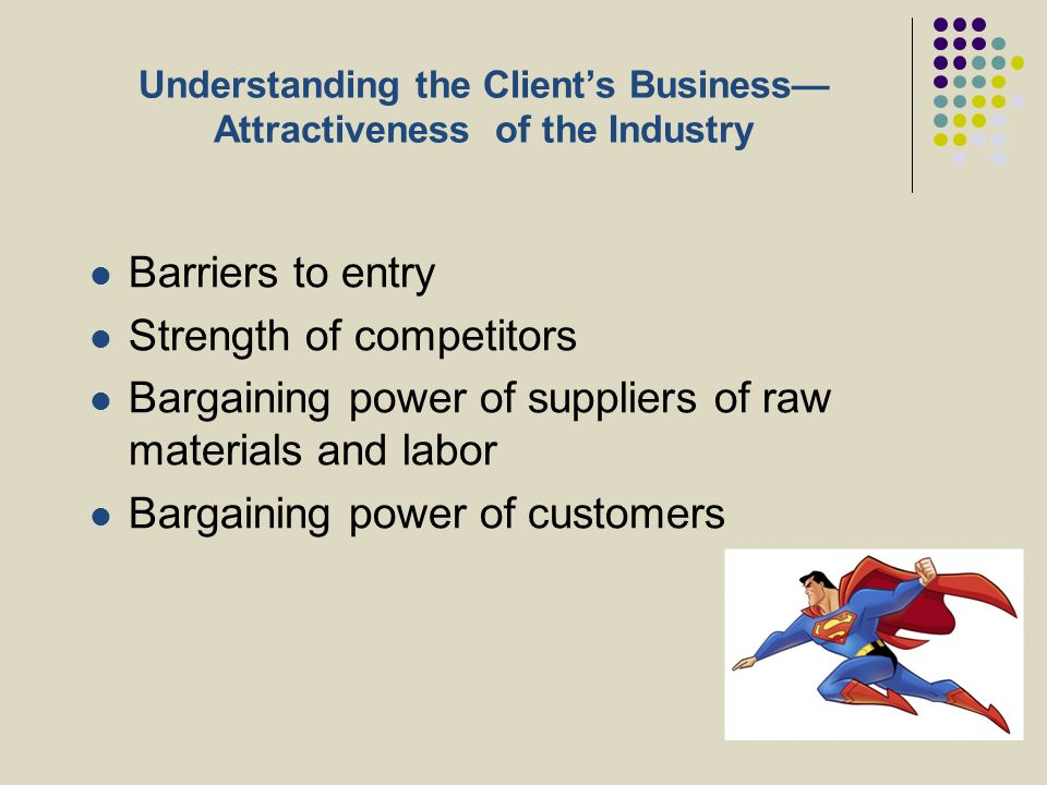 Understanding the Client's Business—Attractiveness of the Industry