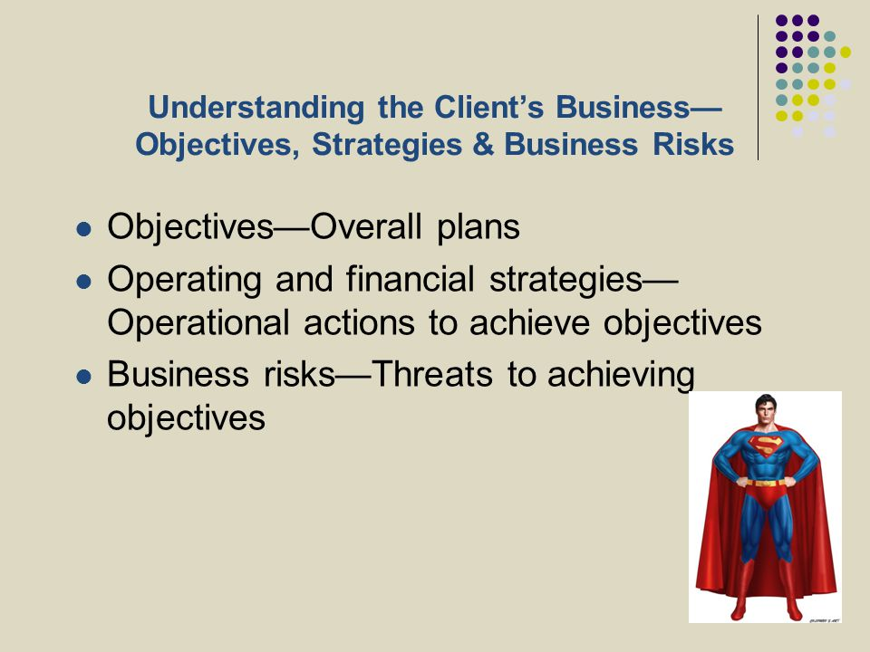 Objectives—Overall plans