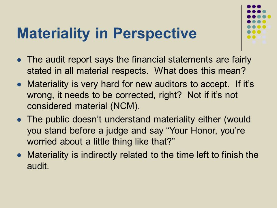 Materiality in Perspective