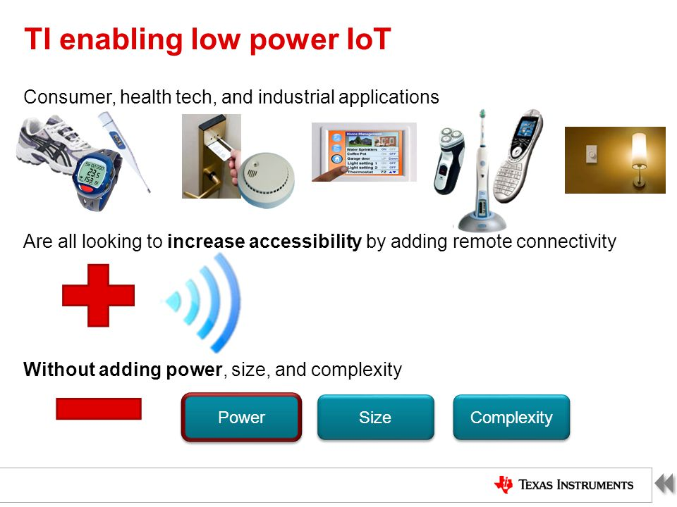 TI enabling low power IoT
