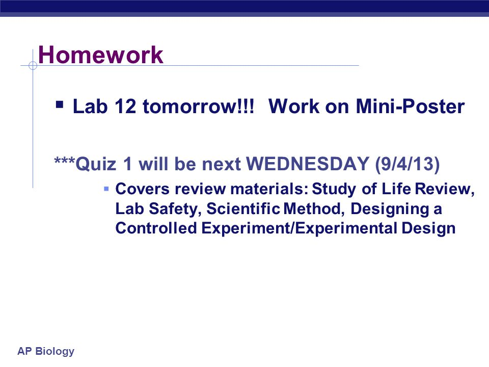 Homework Lab 12 tomorrow!!! Work on Mini-Poster