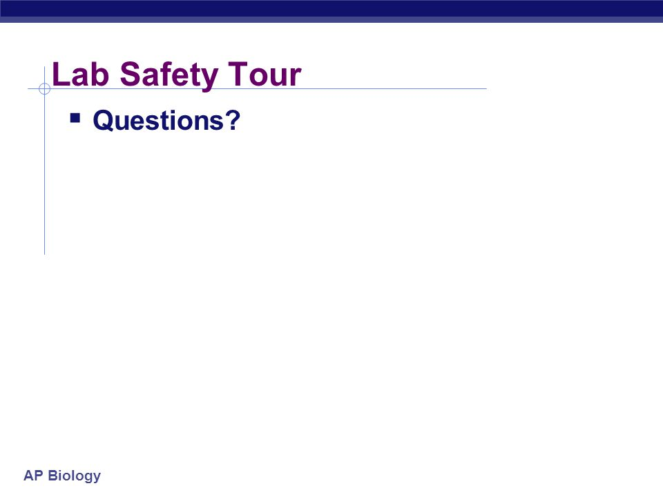 Lab Safety Tour Questions