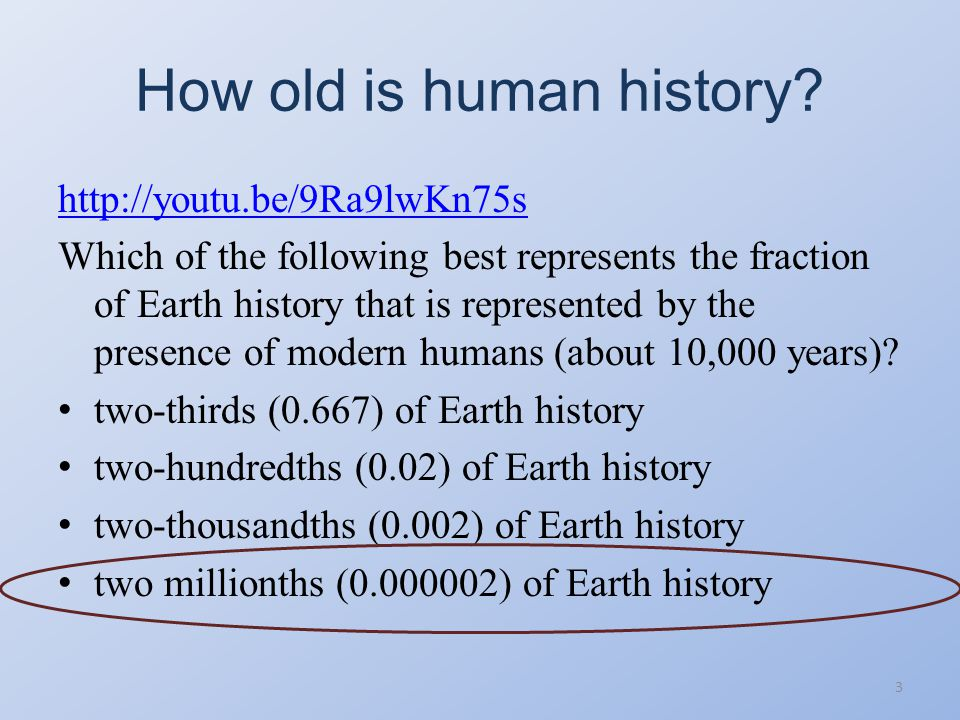 How old is human history