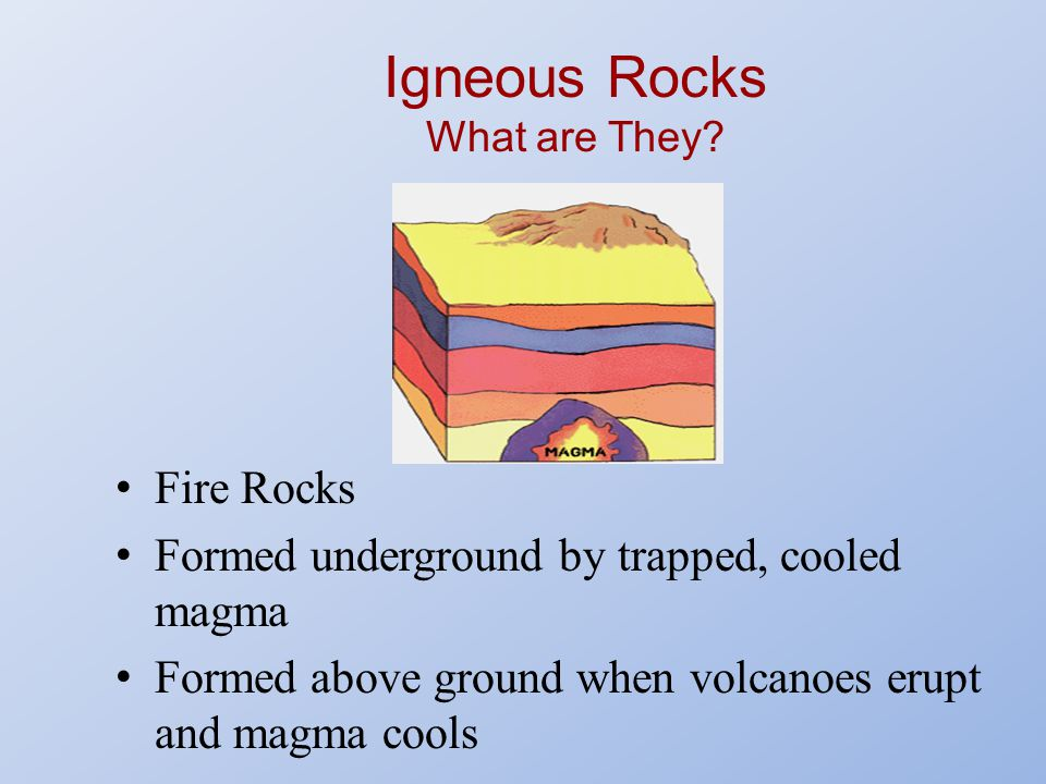 Igneous Rocks What are They