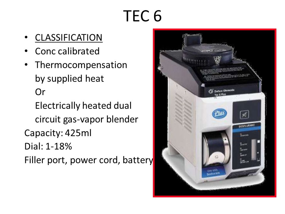 TEC 6 CLASSIFICATION Conc calibrated Thermocompensation