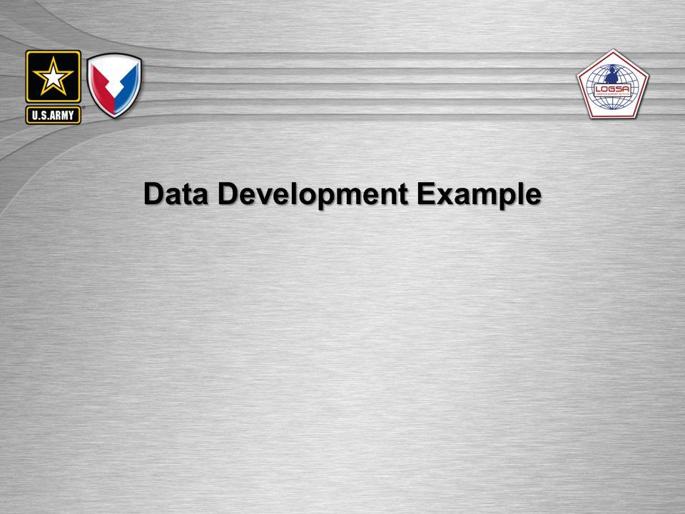 Data Development Example
